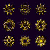 Vintage Golden pattern on dark background