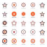 Stars and rotation. Design elements set.