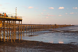 Southend Pier at Sunset, Essex, England