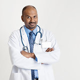 Mature Indian doctor portrait