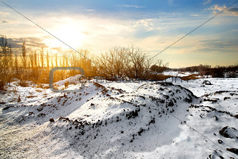 Countryside in winter