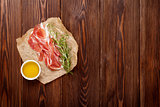 Prosciutto with rosemary and olive oil