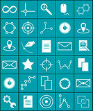 Vector icons science and graphics