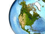 North America on Earth