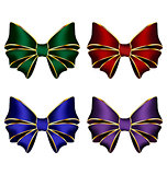 multicolored silk bows