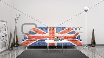 Great Britain flag sofa