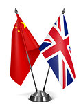 China and United Kingdom - Miniature Flags.