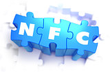NFC - Text on Blue Puzzles.