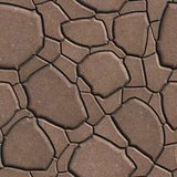 Brown Figured Paving Slabs which Imitates Natural Stone.