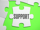 Support - Jigsaw Puzzle with Missing Pieces.