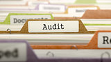 File Folder Labeled as Audit