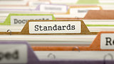 File Folder Labeled as Standards