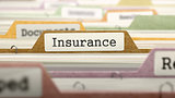 Insurance Concept on File Label.