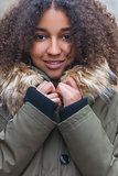 Beautiful Mixed Race African American Young Woman