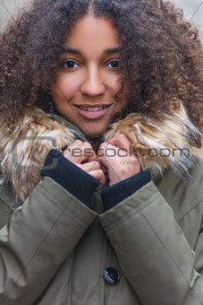 Beautiful Mixed Race African American Young Woman