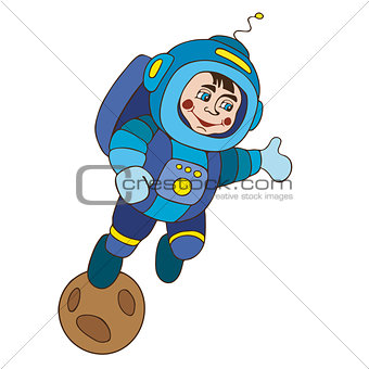 astronaut  planet vektor