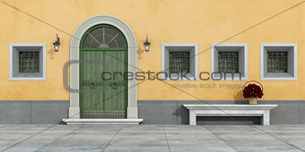 Old facade with doorway