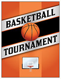 Basketball Tournamet Flyer Poster Illustration