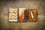 HIV Concept Letterpress Leather Theme