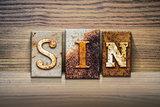 Sin Concept Letterpress Theme