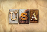 USA Concept Rusted Metal Type