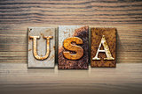 USA Concept Letterpress Theme