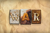 War Concept Rusted Metal Type