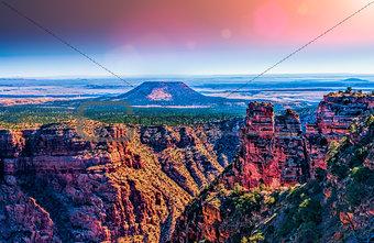 Cedar Mountain at Desert View, Grand Canyon, Arizona