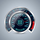 Shiny speedometer with big rev counter