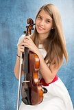 Teenage girl with viola