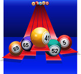 Bingo Balls over 3D stripes
