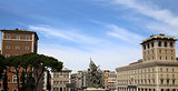 skyline from Vittorio Emanuele, Piazza Venezia in Rome, Italy