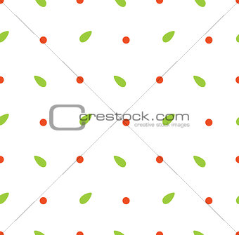 Abstract seamless pattern with leafs
