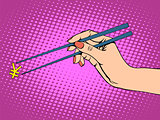 The Japanese yen and chopsticks