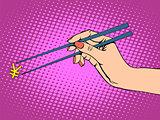 The Japanese yen and chopsticks