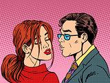 man woman kiss love romance couple