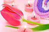 Pink spa set