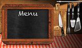 Blackboard Menu in the Kitchen