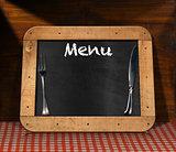 Blackboard Menu on the Table