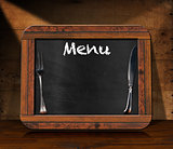 Blackboard Menu on the Table