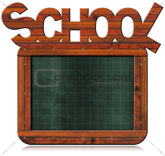 Old Empty Blackboard with Text School