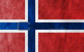 Grunge flag Norway