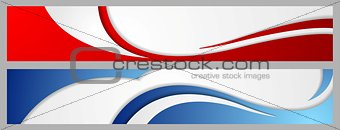 Abstract corporate waves bright banners