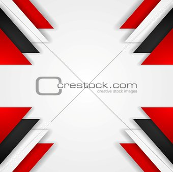Abstract contrast background with tech elements