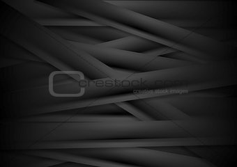 Black striped corporate abstract background