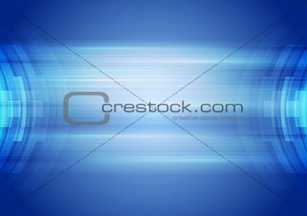 Abstract blue hi-tech corporate background