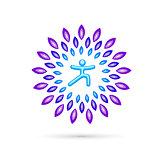 Round Yoga Emblem