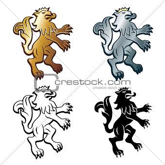 Four Heraldic Lions