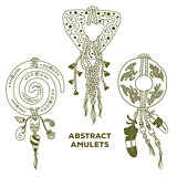 Three Abstract Amulets