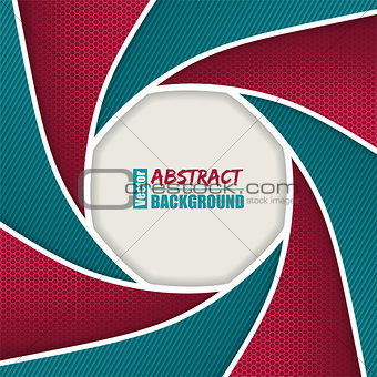 Abstract brochure with shutter design